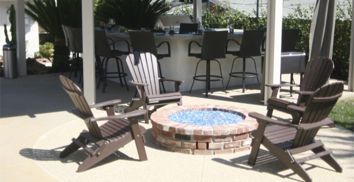 fire pit concrete project southern California