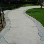 stamped concrete pathway ca